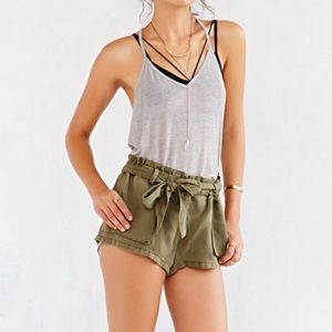 NWT Urban Outfitters Washed Paperbag Shorts
